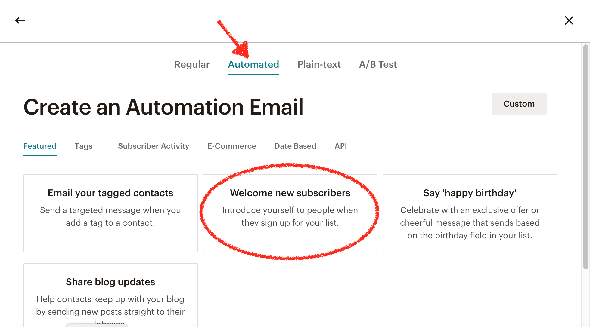Create Automation Email